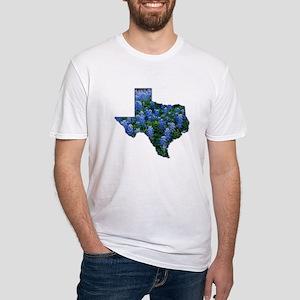 TX Bluebonnets Fitted T-Shirt