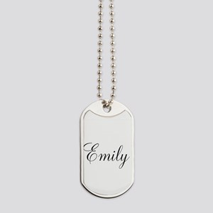 Personalized Black Script Dog Tags