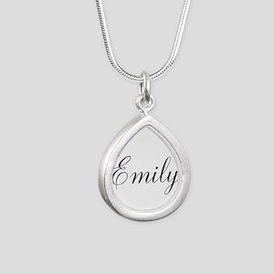 Personalized Black Script Necklaces