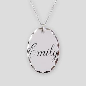Personalized Black Script Necklace