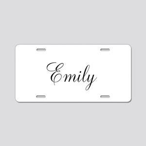 Personalized Black Script Aluminum License Plate