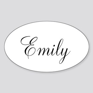 Personalized Black Script Sticker