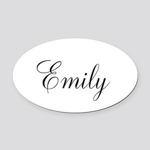 Personalized Black Script Oval Car Magnet