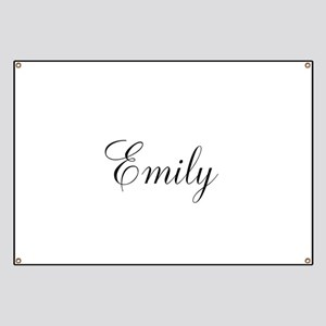 Personalized Black Script Banner