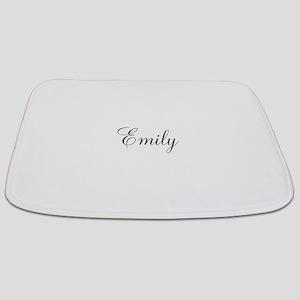 Personalized Black Script Bathmat