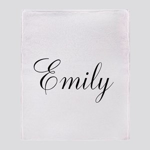 Personalized Black Script Throw Blanket