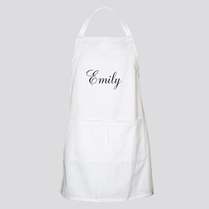 Personalized Black Script Apron