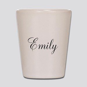 Personalized Black Script Shot Glass