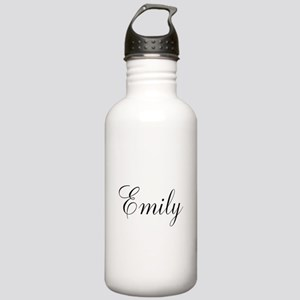Personalized Black Script Water Bottle