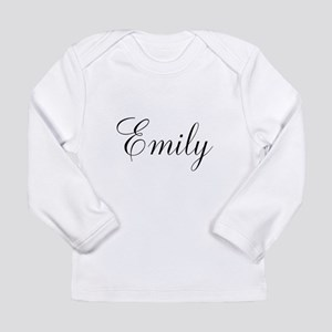 Personalized Black Script Long Sleeve T-Shirt