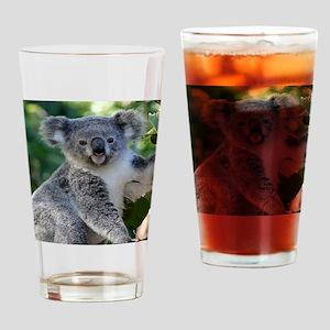 Cute cuddly koala Drinking Glass