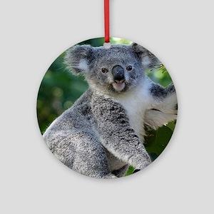 Cute cuddly koala Round Ornament