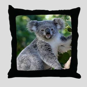 Cute cuddly koala Throw Pillow