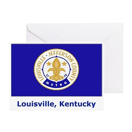 Louisville KY Flag Greeting Cards (Pk of 10)