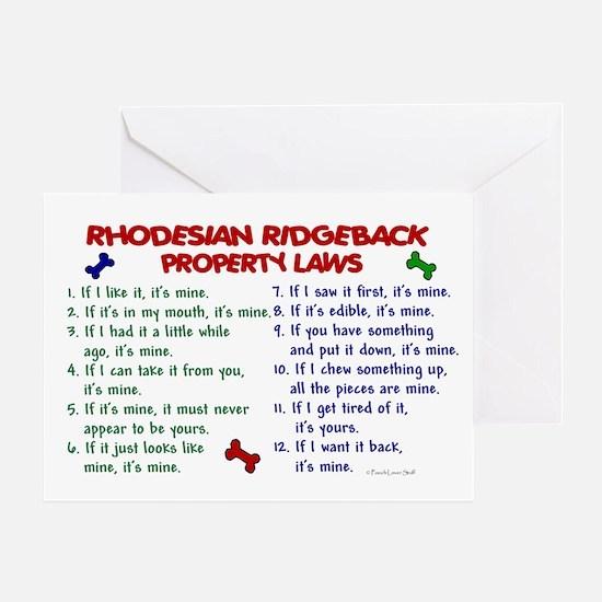 Rhodesian Ridgeback Property Laws 2 Greeting Card