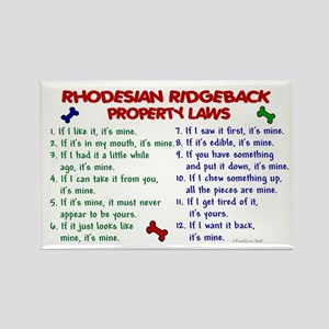 Rhodesian Ridgeback Property Laws 2 Rectangle Magn