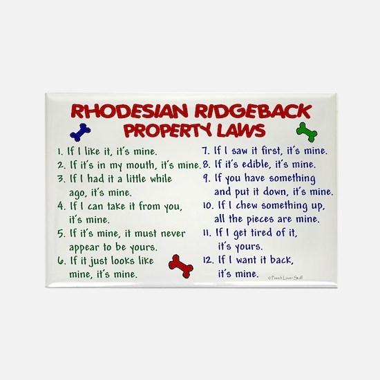 Rhodesian Ridgeback Property Laws 2 Rectangle Magn