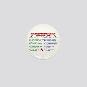 Rhodesian Ridgeback Property Laws 2 Mini Button