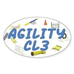 CL3 Agility Title Oval Sticker