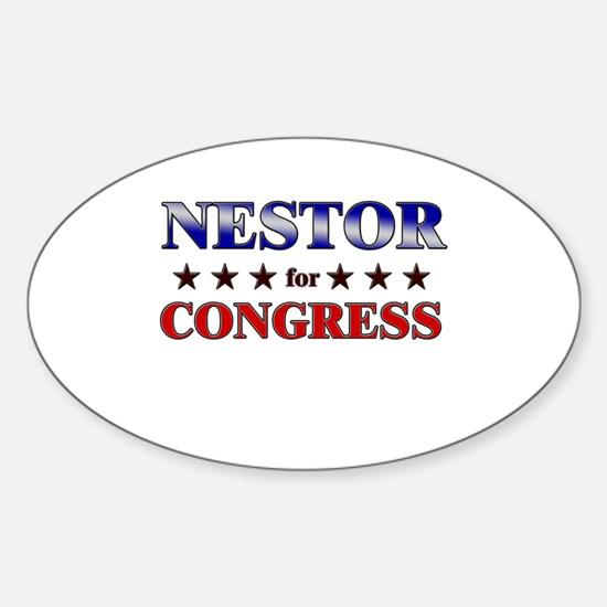 NESTOR for congress Oval Decal