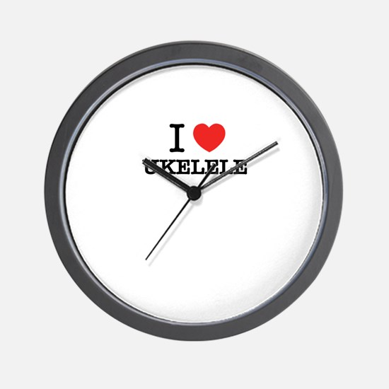 I Love UKELELE Wall Clock