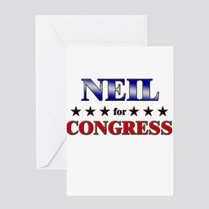 NEIL for congress Greeting Card