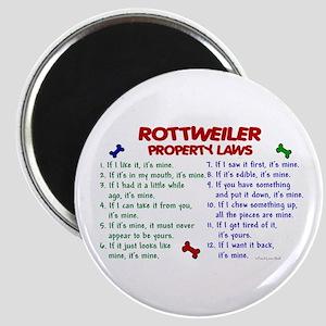 Rottweiler Property Laws 2 Magnet
