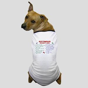 Rottweiler Property Laws 2 Dog T-Shirt