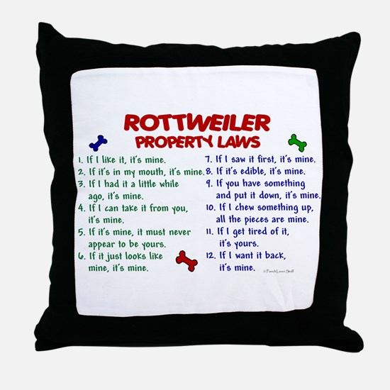 Rottweiler Property Laws 2 Throw Pillow