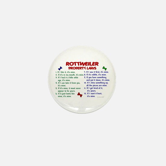 Rottweiler Property Laws 2 Mini Button
