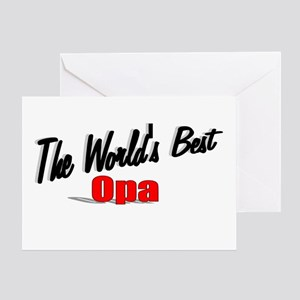 """""""The World's Best Opa"""" Greeting Card"""