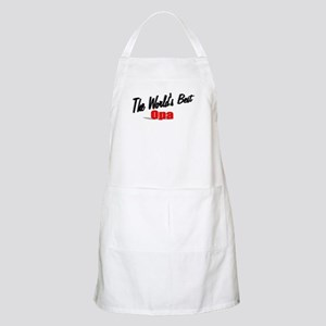 """The World's Best Opa"" BBQ Apron"