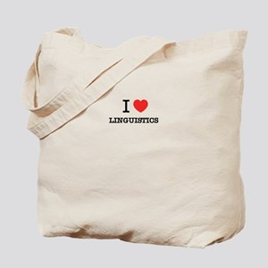 I Love LINGUISTICS Tote Bag