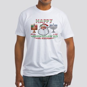 HAPPY CHRISKWANUKAH Fitted T-Shirt