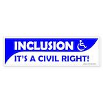 Bumper Sticker Inclusion is a Civil Right