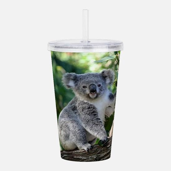 Cute cuddly koala Acrylic Double-wall Tumbler