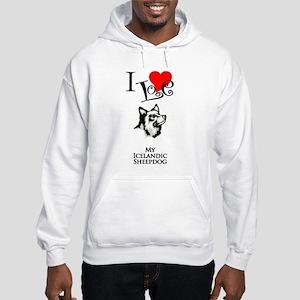 Icelandic Sheepdog Hooded Sweatshirt