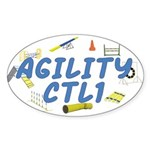 CTL1 Agility Title Oval Sticker