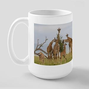 Giraffe Herd Products Large Mug