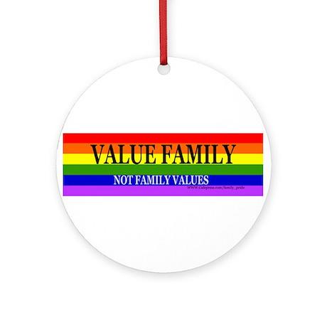 Gay Lesbian Pride Ornament (Round)