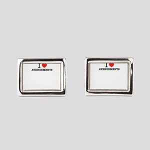 I Love AVENGEMENTS Rectangular Cufflinks