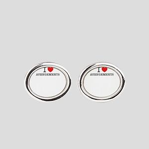 I Love AVENGEMENTS Oval Cufflinks