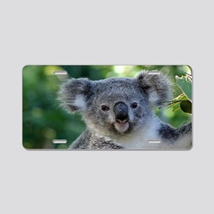 Cute cuddly koala Aluminum License Plate