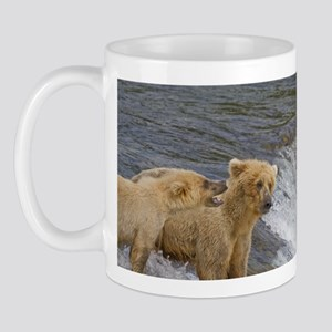 Grizzly Bear mom and cub Mug