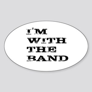 IM WITH THE BAND BLACK FONT Sticker