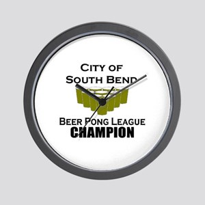 City of South Bend Beer Pong Wall Clock