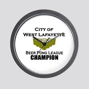 City of West Lafayette Beer P Wall Clock