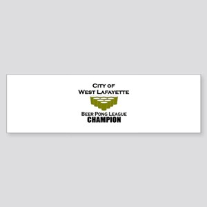 City of West Lafayette Beer P Bumper Sticker