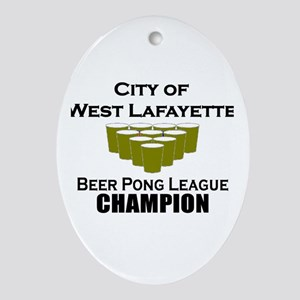 City of West Lafayette Beer P Oval Ornament