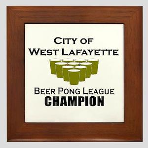 City of West Lafayette Beer P Framed Tile